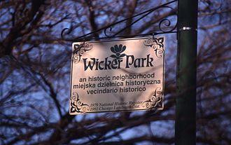 Wicker Park, Chicago - Wicker park sign in 1999