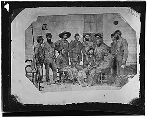 Camp Ford - 19th Iowa Infantry, exchanged prisoners.