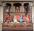 19th century carved stage for glove puppets, Quanzhou, Lin Liu-Hsin Museum.JPG