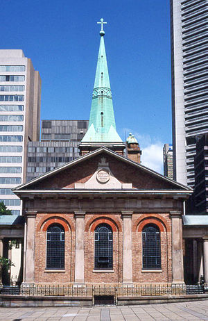 St James' Church, Sydney - The eastern front
