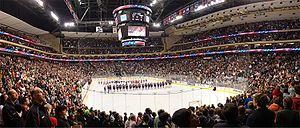 Minnesota State High School League - 2009 Boys AA Championship game at the Xcel Energy Center.