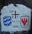 2010.10.09 Kranzhorn (18) Grenze auf Fels 2.jpg