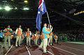 201000 - Opening Ceremony swimmer Brendan Burkett parades - 3b - 2000 Sydney opening ceremony photo.jpg