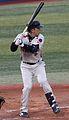 20111015 Miyamoto Shinya, infielder of the Tokyo Yakult Swallows, at Yokohama Stadium.JPG
