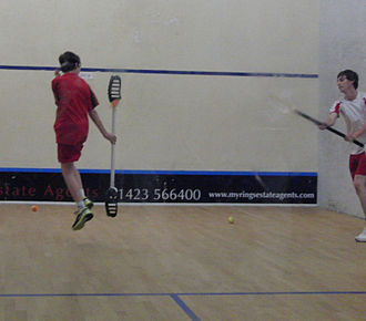 VX (sport) - V2 Youth World Champion Tom Brown (in red) in action against Liam Leckenby in the 2013 V2 Youth World Cup Final