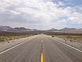 2014-07-17 13 27 05 View east along U.S. Route 6 about 24.6 miles east of the Esmeralda County Line in Nye County, Nevada.JPG