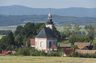 Sosnowa Village in Lower Silesian, Poland