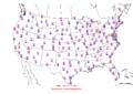 2015-10-05 Max-min Temperature Map NOAA.png