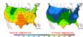 2015-10-21 Color Max-min Temperature Map NOAA.png