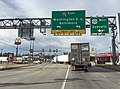 2015-12-14 11 20 01 View east along Interstate 70 at the end of the non-freeway multiplex with westbound U.S. Route 30 in Breezewood, Pennsylvania.jpg