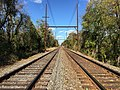 2017-10-30 14 27 17 View northeast along the Delaware and Bound Brook Railroad near River Road in Ewing Township, Mercer County, New Jersey.jpg