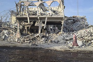 14 October 2017 Mogadishu bombings - Image: 2017 10 15 VBIED 8 (37666124646)