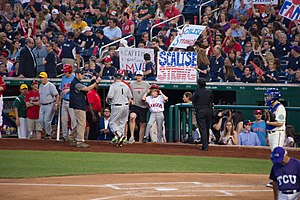 2017 Congressional baseball shooting - Scalise supporters at the Congressional Baseball Game.