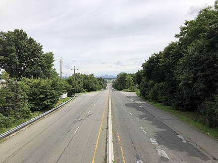 View east along US 46 in Hasbrouck Heights 2018-07-21 14 26 44 View east along U.S. Route 46 from a pedestrian overpass at Collins Avenue in Hasbrouck Heights, Bergen County, New Jersey.jpg