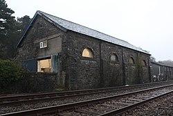 2018 at Grange-over-Sands station - the old goods shed.JPG