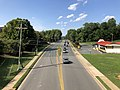 2019-08-08 16 41 52 View north along U.S. Route 29 Business (Emmet Street) from the pedestrian overpass just south of Massie Road within the University of Virginia in Charlottesville, Virginia.jpg