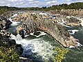 2019-09-07 15 13 50 View north-northeast towards the Great Falls of the Potomac River from Overlook 1 about 100 feet downstream of the falls within Great Falls Park in Great Falls, Fairfax County, Virginia.jpg