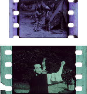 28 mm film - 28 mm diacetate film compared to 35 mm nitrate film