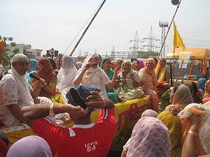 Nanded - Sikh devotees during Shobha Yatra in Nanded