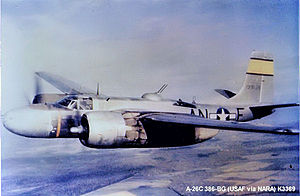 RAF Great Dunmow - Douglas A-26B-15-DL Invader Serial 41-31956 of the 553d Bomb Squadron