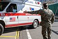 3 2 Marines stand guard in NYC for USNS Comfort (49826663261).jpg