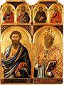 3 Niccolo di Segna, San Bartolomeo e San Nicola, ca. 1336, Pinacoteca Nazionale, Siena.jpg