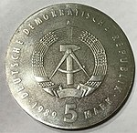 5 Mark DDR Ossietsky 1989 obverse.jpg