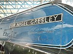 60007 Sir Nigel Gresley at the NRM (name plate).JPG