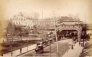 42nd Street (IRT Sixth Avenue Line) - The 42nd street station circa 1879