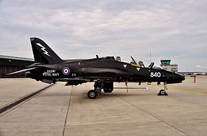 736 Naval Air Squadron - Hawk T1 of 736 NAS at RNAS Yeovilton in 2014
