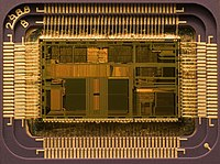 Microprocessors are miniaturized devices that often implement stored program CPUs.