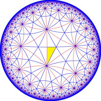 Truncated trioctagonal tiling - Image: 832 symmetry 000