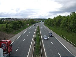 A1(M) motorway, approaching the Chester-le-Street interchange - geograph.org.uk - 176709.jpg