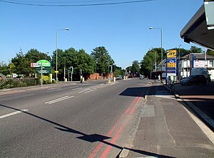 A232 road - Junction with the A233 road.