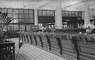 140 St Georges Terrace - The interior of the old AMP Chambers in 1954