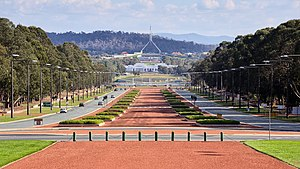 Anzac Parade, Canberra - Looking down Anzac Parade from the Australian War Memorial