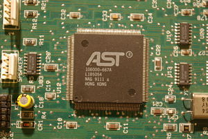 AST Research - AST Screen Print Logo on custom chip.