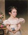 A child holding a bouquet of flowers, by Alois von Anreiter.jpg
