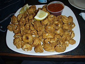 A fried calamari