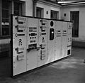 A low voltage board destined for Turku broadcasting station in the courtyard of Fabianinkatu radio house, ca. 1939. (15484473281).jpg