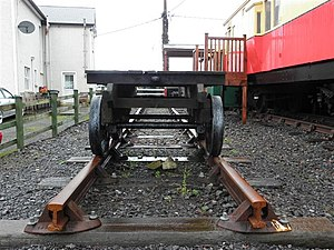 County Donegal Railways Joint Committee - A track panel at Donegal Railway Heritage Centre