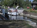 A pleasure boat enters Benson Lock, River Thames - geograph.org.uk - 274188.jpg