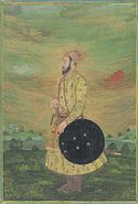 A portrait probably made by a Mughal artist, in the Deccan, during Aurangzeb's military campaigns there