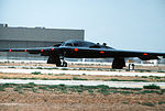 A view of a B-2 advanced technology bomber on the ground at the Air Force Flight Test Center for its first flight DF-ST-90-07393.jpg