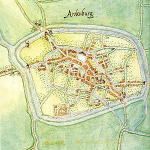 Aardenburg - Image: Aardenburg 1560