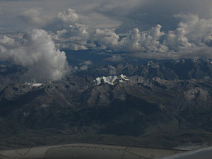 Qionglai Mountains - Southern Qionglai seen from a plane