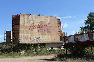 Angelina County, Texas - Abandoned Redland Drive-in Theater off U.S. Highway 59 north of Lufkin