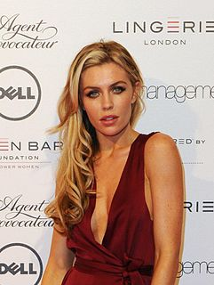 Abbey Clancy British lingerie and catwalk model, television presenter