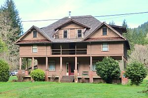 National Register of Historic Places listings in Coos County, Oregon - Image: Abernethy House Myrtle Point Oregon