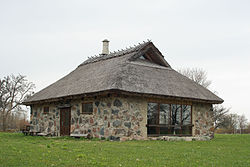 The oldest building on Abruka: The Abruka House (Abruka maja).